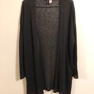 H&M Black Open Front Cardigan